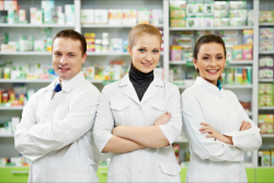 group of pharmacists smiling